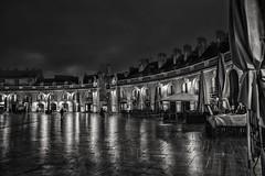 Place de la libération (krystinemoessner) Tags: monochrome nikon noirblanc scènedevie scenederue blackwhite nuit dijon taek krystine moessner