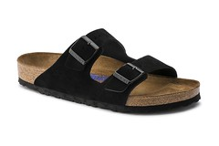"Birkenstock Arizona Soft Footbed sandal black suede • <a style=""font-size:0.8em;"" href=""http://www.flickr.com/photos/65413117@N03/32682761611/"" target=""_blank"">View on Flickr</a>"