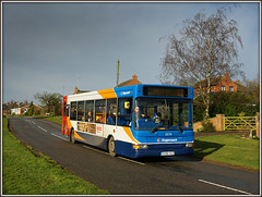 35174, Braunston (Jason 87030) Tags: 35174 kx56kgz braunston village roadside sky light 12 rugby daventry monksmoor stagecoach dennis dart pointer passengers bus transport northants northamptonshire sony alpha a6000 weather ilce nex lens shot february 2017
