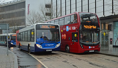 Enviro little and large (Travis Pictures) Tags: bus buses exeter devon city citycentre transport publictransport stagecoach stagecoachsouthwest nikon d5200 photoshop citi exciti