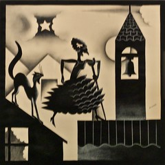 "The tragedy of ""Dona Ajada"" - IV - The broken Moon - José de Almada Negreiros (1893-1970) (pedrosimoes7) Tags: josédealmadanegreiros caloustegulbenkianmuseum moderncollection lisbon portugal museu musée museum salvadorbacarisse manuelabril artgalleryandmuseums"