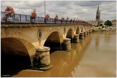 Libournr le Pont en Fleurs (boguy2447) Tags: ponts puentes bridges libourne 33 pierre 1820 1824 4491301n024980e