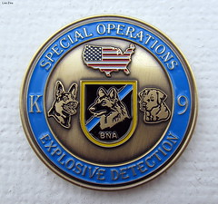 Made Of Metal (Lisa Zins) Tags: lisazins macro macromonday macromondays metal madeofmetal march13 2017 k9 nashville berry field canon powershot sx150 is medal coin bna canine officer airport tn tennessee special operations explosive detection monday