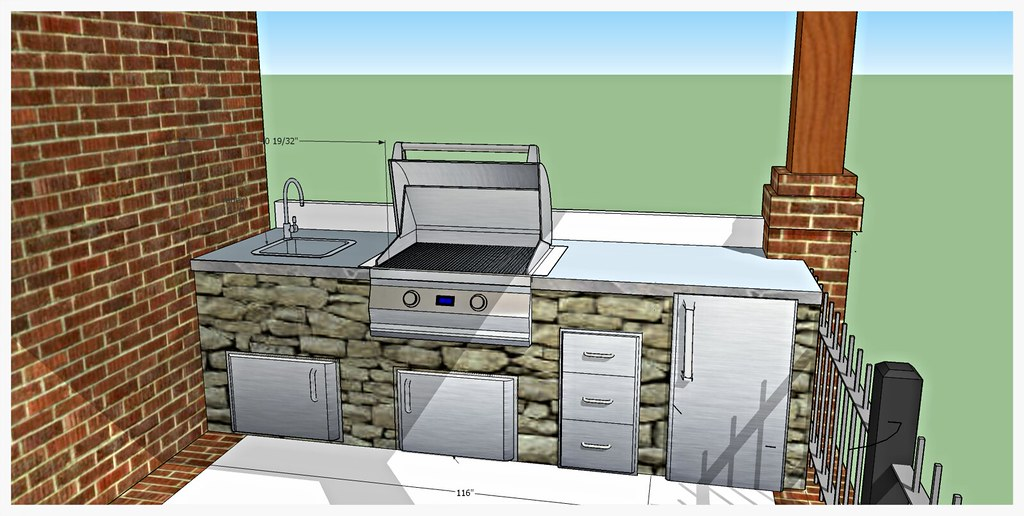 Design for Custom Outdoor Kitchen, Chattanooga, Tn.
