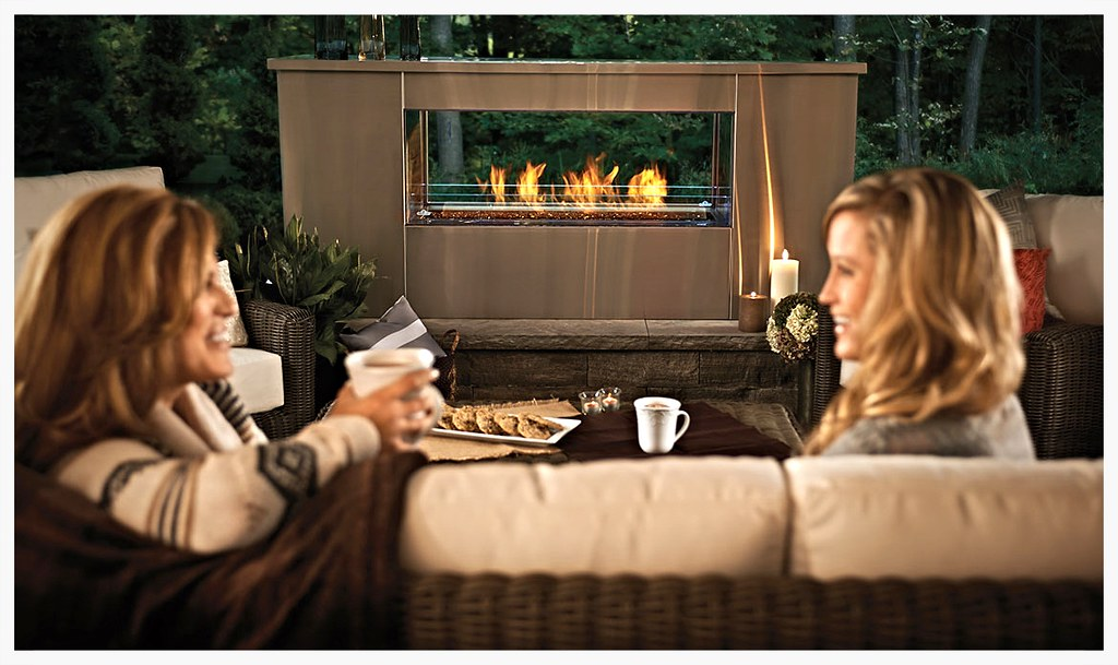 Napoleon GSST48 linear see thru fireplace