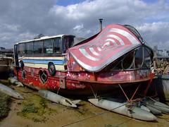Its a bus. Its a boat. Its a er er . . . .