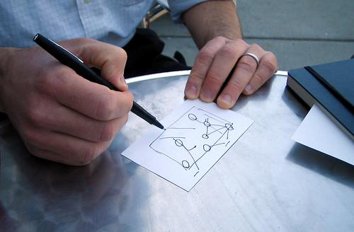 Enrique writing