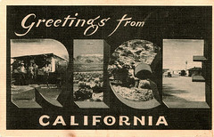 Greetings From Rice, California - big letter post card