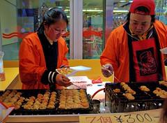 Takoyaki (JanneM) Tags: city food japan jan  octopus  osaka kansai takoyaki doutonbori  morn moren janmoren janmorn