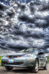 In Focus (Lawrence Whittemore) Tags: 2003 blue light sky green ford clouds focus maine lobster hdr tundra gravel payitforward lawrencew