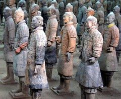 Colourful Army (Heaven`s Gate (John)) Tags: china travel vacation art history topf25 beautiful architecture terracotta chinese xian warriors emperor heavensgate terracottaarmy 50faves 5photosaday bluelist 25faves flickrific johndalkin p1f1 fiveflickrfavs thegoldenphoenix