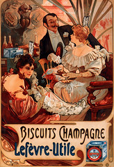 Biscuits Champagne-Lefvre-Utile (aeillill) Tags: art illustration 1800s advertisement artnouveau mucha lithograph 1896 alphonsemucha biscuitschampagnelefvreutile