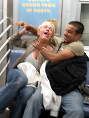 Subway Fights! (jase (iilgemini)) Tags: nyc subway fight attack strangle fleetweek2006