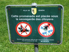 Don't Pick the Flowers (or the Dog) (twuble) Tags: flowers geneva dont swizterland pick