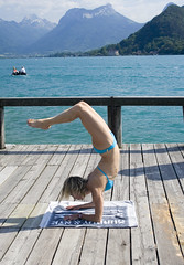 Scorpio (nathalie booth) Tags: france yoga europe scorpion nathalie asana lakeofannecy