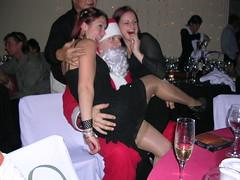 Le Père Noël cochon... (Pat Rioux) Tags: people circus staff artists acrobats cirque cirquedusoleil dralion aroundtheworld europeantour