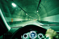 tunnel #2 (* tathei *) Tags: city travel film japan driving tunnel natura fujifilm karuizawa iso1600 gunma classica