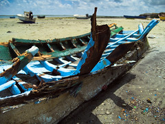SKELETON IN BLUE (peke_cheeks) Tags: skeleton blue boat olhao 1in1of300v 123f1 helluva aplusphoto anyhdranyphotoshop