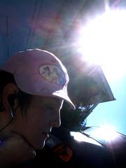 *pose* (picklerevenge) Tags: pink sun me hat glow bright princess profile disney ponder contemplate cheesy glee