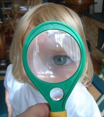 i spy! (PhylB) Tags: eye charlotte magnifyingglass