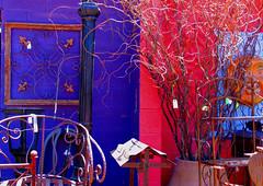 Town Dump Color (byrdiegyrl) Tags: pink arizona sun color sticks purple wroughtiron decor cavecreek towndump