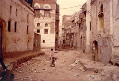 Sana'a backstreet (Yemen)