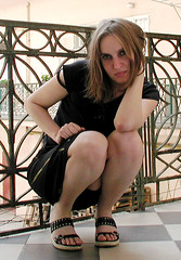 Perching on the balcony. (Ms Kat) Tags: selfportrait me girl balcony michelle mrowrr