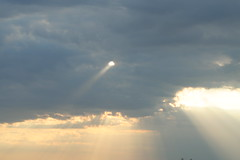 Hole in the sky (ahhyeah) Tags: sky sun clouds one ray hole beam single ahhyeah fcsetsrises