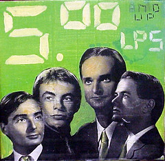 Folk Art: Kraftwerk Trans-Europe Express (Well Wisher) Tags: blackandwhite bw white green folkart pop german techno kraftwerk transeuropeexpress cdcellararlingtonva folkartbymort ralfhtter henningschmitz vinyldisplay 5anduplps florianschneideresleben fritzhilpert