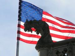 Patriotic Gargoyle (angel_shark) Tags: usa flag gargoyle biltmore tbg angelshark thebiggestgroup angelsharkfavsbest