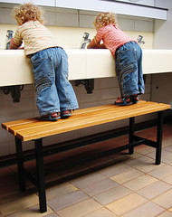 washing hands (joyrex) Tags: camping topv111 1025fav twins toddler explore harskamp