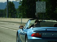 State Law (Curtis Gregory Perry) Tags: bmw z3 interstate 5 i5 car automobile convertible statelaw blue truck conveyance transportation vehicle auto rig ride whip blau azul oregon or northwest sign signs portland pacific pacificnorthwest united states usa us america motor automobil سيارة otomobil αυτοκινήτων 自動車 汽车 汽車 मोटर מכונית ઓટોમોબાઈલ รถยนต์ xe hơi საავტომობილო автомобил автомобиль 자동차 gluaisteán automobilių kotse bifreið mobil samochód automóvil аўтамабіль ավտոմոբիլային аутомобилски coche carro vehículo مركبة veículo fahrzeug