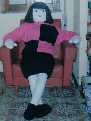 boneca de tamanho real de pessoa em tecido vestida de malha por marydoll1969.