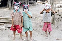 Masked Chin children