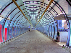 Tunnel to Poplar DLR (Andwar) Tags: london photoshop poplar tunnel canarywharf hdr eastend poplardlrstation photomatix