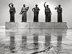 the daughters of danaus (heavenuphere) Tags: bw italy reflection statue bronze italia grain napoli naples danaus italybw museoarcheologiconazionale thedaughtersofdanaus