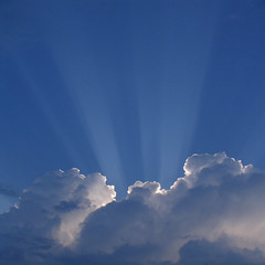 Thank Heavens (Jeremy Stockwell) Tags: blue summer sky sun clouds silver still soft glow quiet peace silent softness fluffy peaceful indiana calm silence photofriday rays hush stillness silverlining glows canonpowershots1is godclouds jeremystockwellpix photofridaysilver skyascanvas myindianasummer