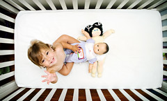 waving with dinky, steven and a hidden sunna (aka sushi) (sesame ellis) Tags: white girl toddler dolls mykid crib year2 steven everyday cabbagepatchkid dinky sunna bittybaby