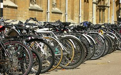 There are nine million bicycles in Broad Street...