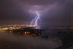 Lightning Niagara Falls VIEW FROM 42nd floor Embassy Suites (PW74) Tags: usa canada topf25 america bravo united niagara falls embassy faves states lightning fcl suites pw continuum the onweer bliksem 2549 pw74