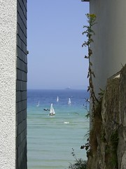 St Ives, Cornwall (Richard and Gill) Tags: sea lighthouse boats seaside cool cornwall yachts stives godrevy