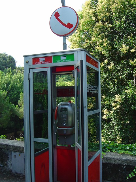 public phone box, Genoa