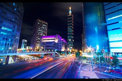 Rush Hour (Fishtail@Taipei) Tags: light topf25 night traffic taiwan taipei lighttrails taipei101 myfavorite