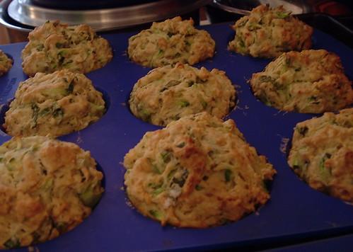 zucchini basil muffins