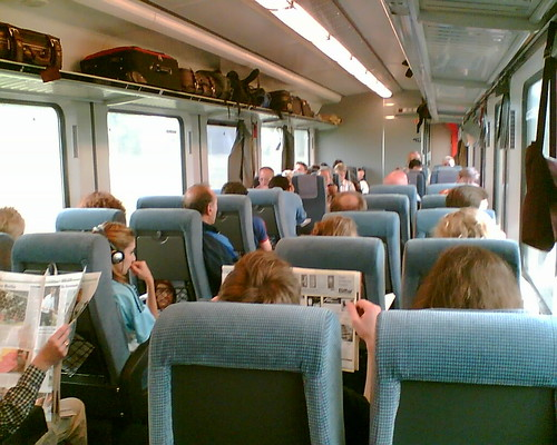 DB inter-city train interior