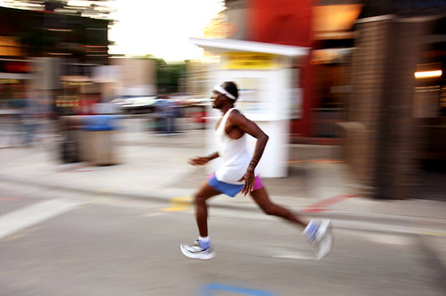 Runners burn more fat