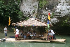 entertainers at Loboc River