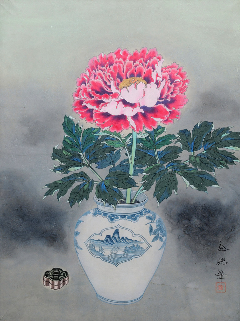 Peony - 牡丹花図