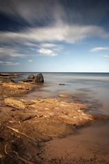 In the still of the day (Ray Byrne) Tags: longexposure sea beach water canon wow landscape 350d coast rocks afternoon north northumberland shore northsea canon350d northeast ndfilter landscapephotography sugarsands raybyrne tenstopsofdarkness byrneout byrneoutcouk webnorthcouk