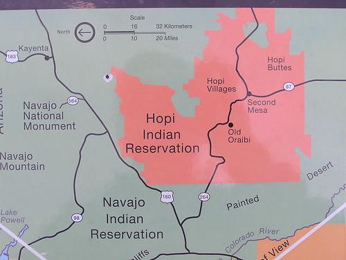 Hopi Indian Reservation Map